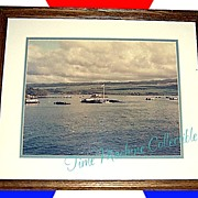 1962 USS Arizona Memorial, Pearl Harbor Aerial Framed Photo