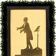Conductor/Pianist Hans von Bulow Silhouette by 19th Century Master Silhouette Artist Dr. Otto Bohler
