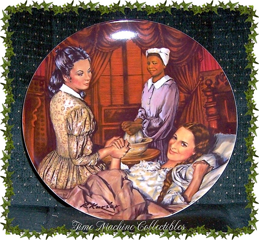 1983 Melanie Gives Birth~~Edwin M. Knowles Gone With The Wind Collectors Plate