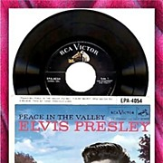 1957 Elvis Presley Peace in The Valley 45RPM Record, Marked 50% Off