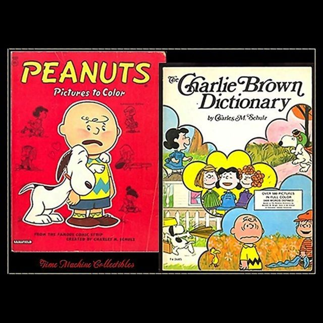 1959 Peanuts Coloring Book & 1975 Charlie Brown Dictionary