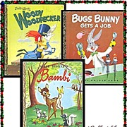 Bugs Bunny, Woody Woodpecker & Bambi First Edition Little Golden Books