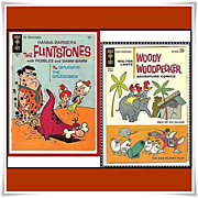 1965 Flintstones Comic, No. 26, & 1962 Woody Woodpecker Adventure Comic, No. 74, Big 80 Page Comic!