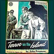 1943 Sunday Novel, Terror On The Island, WWII Era, Philadelphia Inquirer - Red Tag Sale Item