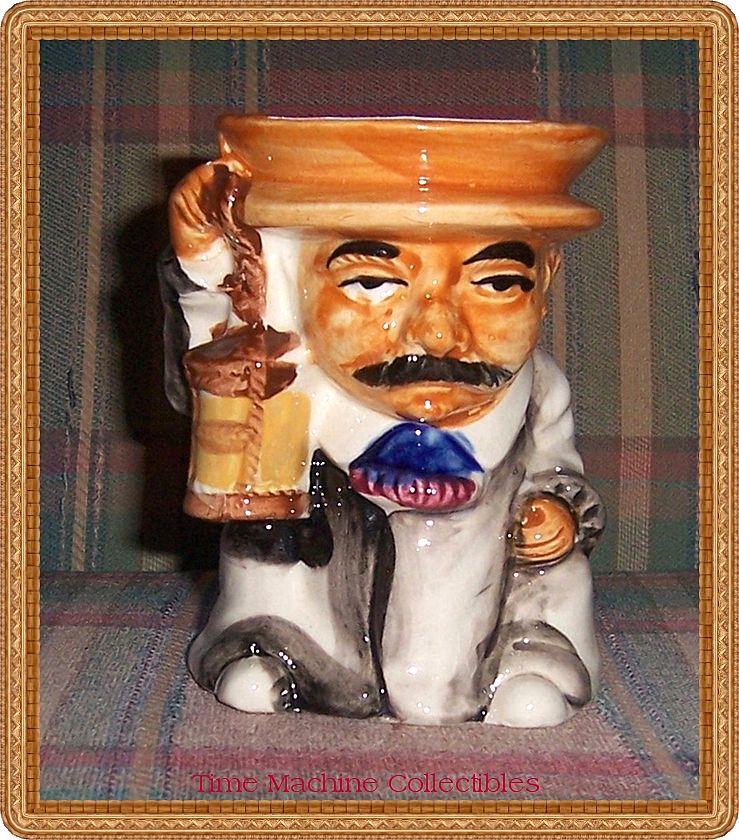 Large Occupied Japan Gentleman Holding Lantern Toby Mug