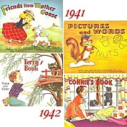 1940's--Two Connect The Dots & Two Trace and Color Books, Marked 50% Off