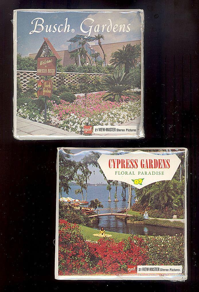 1970's Cypress Gardens & Busch Gardens View-Master 3 Reel Sets, Unopened