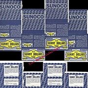 "1966 Sunoco ""Sunny Dollars"" Contest Game Pieces, Marked 50% Off and more"