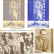 1933 Dinner At 8 Souvenir Program and Lionel Barrymore Photograph, Marked Over 50% Off