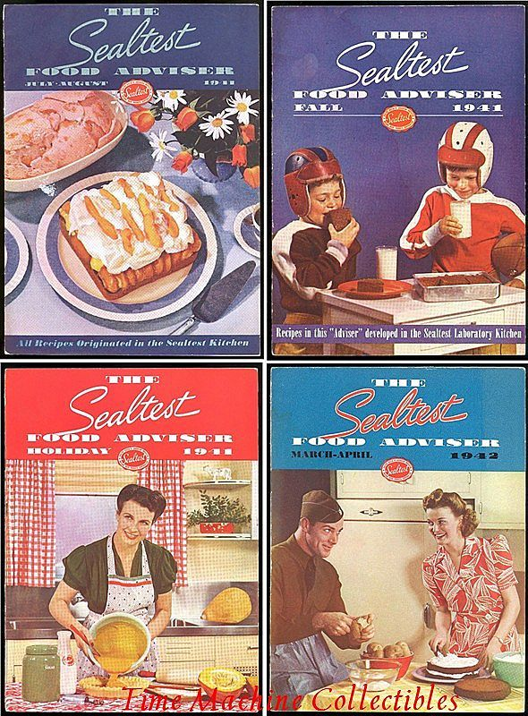 Four WWII Era 1941/42 The Sealtest Food Adviser Cookbooks