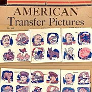 1943/44 WWII Era American Transfer Pictures, Store Display