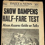 1973 New York Daily News--O. J. Simpson Rushes for 2003 Yards—Dec. 16, 1973, Marked 50% Off
