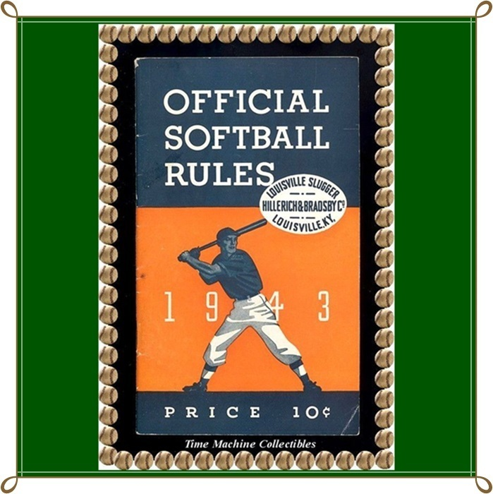 Rare 1943 Official Softball Rules by Hillerich & Bradsby Company