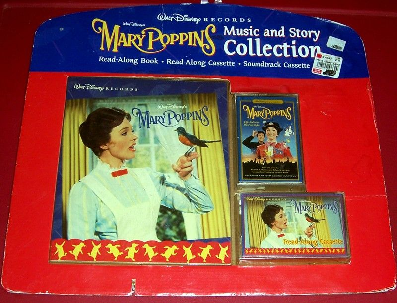1997 Mary Poppins Music & Story Collection Read-Along Book & Cassette, Soundtrack Cassette, Marked 50% Off