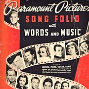 1938 Paramount Pictures Song Folio with Words and Music