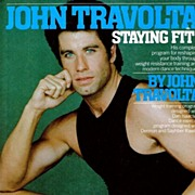 1984 John Travolta Staying Fit!  Exercise Book