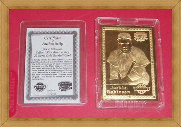 1997 Jackie Robinson Promint 22K Gold Baseball Card, No. 125