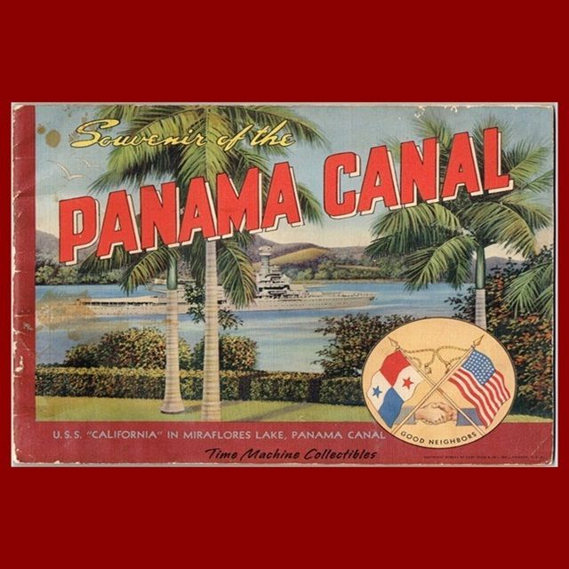 1941 Souvenir of the Panama Canal Book