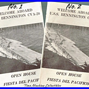 July 1956 U.S.S. Bennington CVA-20 Open House Pamphlet