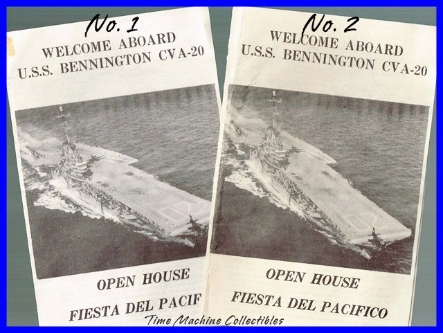July 1956 U.S.S. Bennington CVA-20 Open House Pamphlet