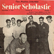 1955 Senior Scholastic Magazine with Jesse Owens Cover
