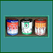 1950's/60's Baseball, Football, and Marching Band Candy Tins by E.G. Whitman & Co.