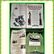 January 1922 Motor Magazine & 1920's Gas Pump Price Card