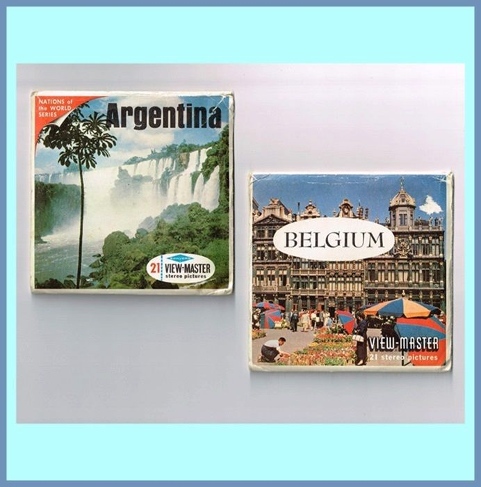 1960's Argentina and Belgium View-Master Reel Sets