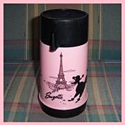 1970/71 Suzette Black Poodle Plastic Thermos by Aladdin