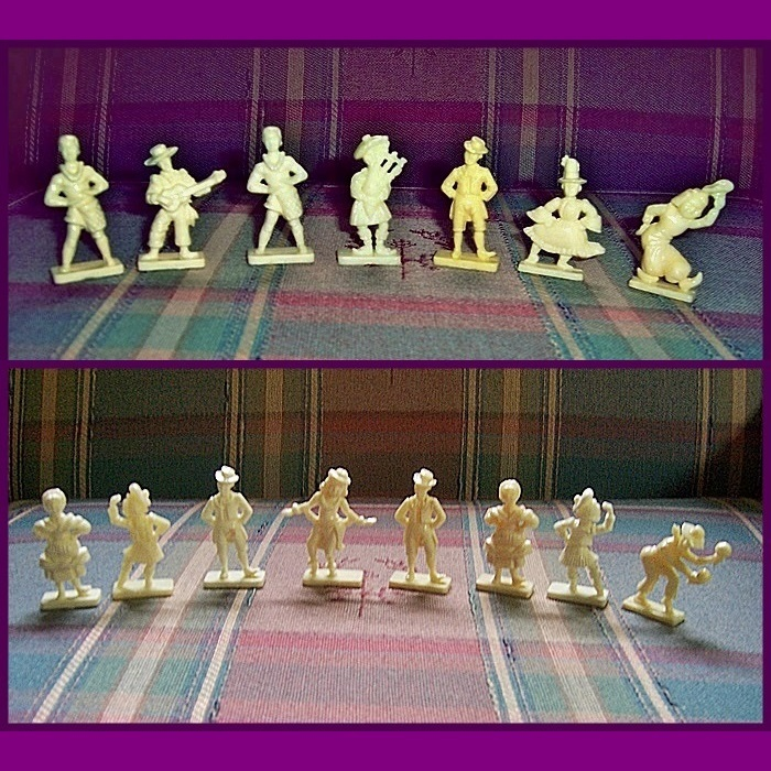 Van Brode Dancing Figures by Duckies Puffed Wheat Cereal