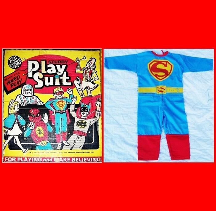 1975 Ben Cooper Superman Play Suit/Halloween Costume