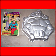 1977 Superman Cake Tin & Lois Lane Comic Book