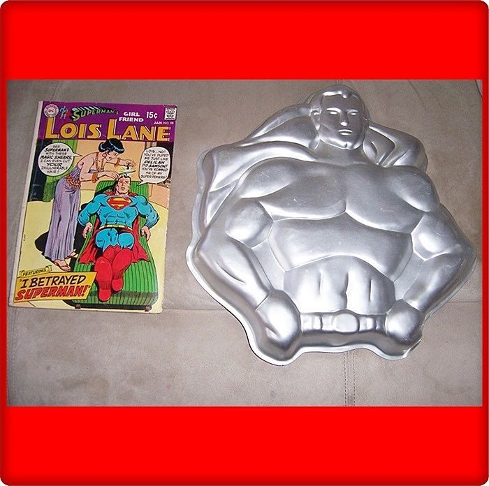 1977 Superman Cake Tin & Lois Lane Comic Book
