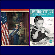 1942 For God and Country Patriotic Tablet & 1943 Health-For-Victory Club Cookbook