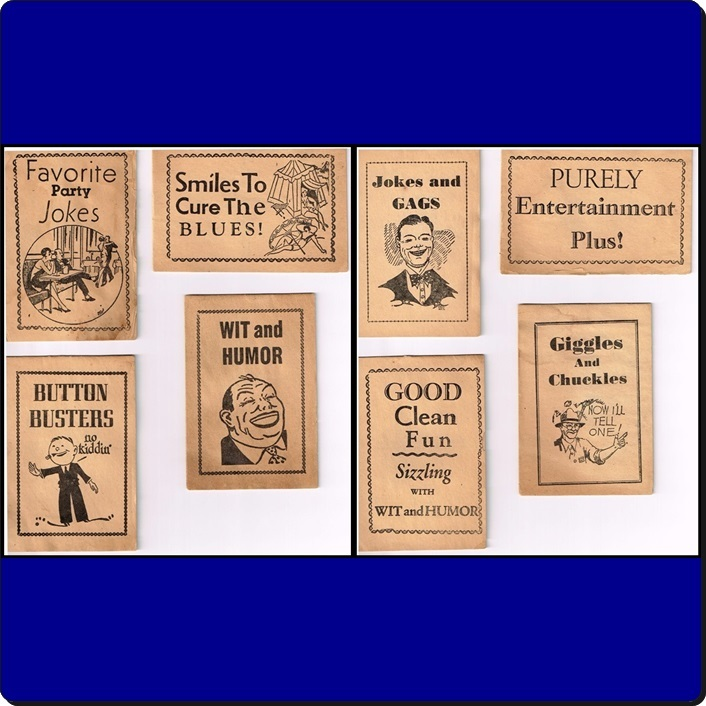 1944 Mini Joke Books & Mailing Envelope by Treasure Novelty Co.