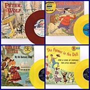 Six 1950's Peter Pan & Golden Record Kiddie Records
