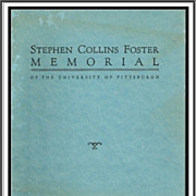 1937 Stephen Collins Foster Memorial Program