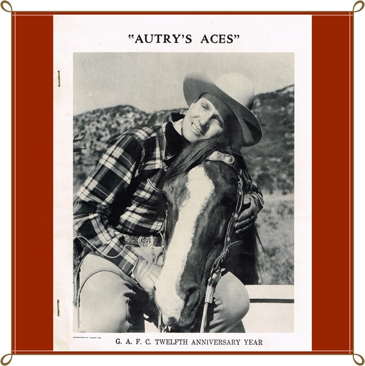 1950 Gene Autry Aces Fan Club Newsletter Twelfth Anniversary Year