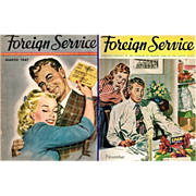 Two Post WWII 1947 Foreign Service Magazines - Red Tag Sale Item