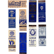 Twelve WWII & Post WWII Matchbook Covers