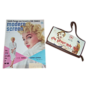 1955 Marilyn Monroe Cover Modern Screen Magazine & MM Wallet Clutch Purse