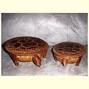 Vintage Hand Woven Nesting Turtle Baskets