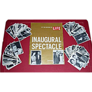 1964 Topps JFK Gum Cards & 1961 JFK Inaugural Spectacle Souvenir  Program by Life