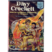 1955 Davy Crockett from the Backwoods of Tennessee to the Alamo Book, Marked 50% Off