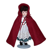 1985 Avon Little Red Riding Hood Doll, Fairy Tale Doll Collection