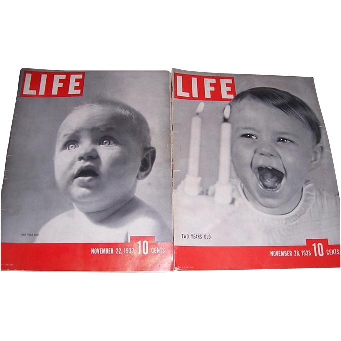 1937/1938 Life Magazine First & Second Anniversary Issues