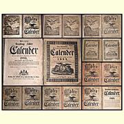1800's/1900's German Reading, Pa., Adler Farmers Almanac
