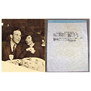 George Burns and Gracie Allen, January 7th, 1926, Marriage Certificate