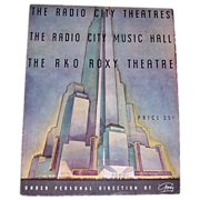 1933 Radio City Music Hall Souvenir Program