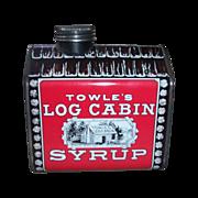 1979 Vintage Towle's Log Cabin Syrup Metal Tin Bank